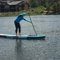 Comfortable with Sweet Waterwear performance gear and KIALOPaddles inflatable Napali board
